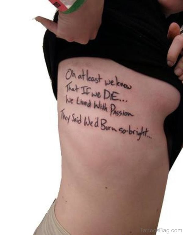 72 Classic Wording Tattoos For Thigh