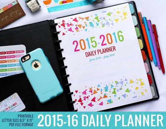 2015 - 2016 Daily Planner Calendar Printable This planner makes a ...