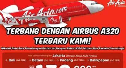 Iklan Penerbangan AirAsia dengan Airbus A320
