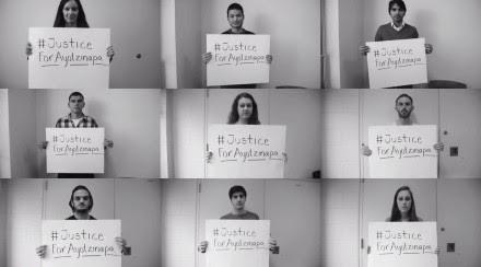 El reclamo de justicia por Ayotzinapa. Foto: Tomada de YouTube