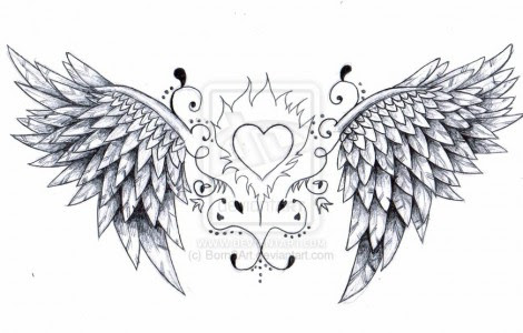 Angel Wings And Heart Tattoos Designs Tattoos Designs Ideas