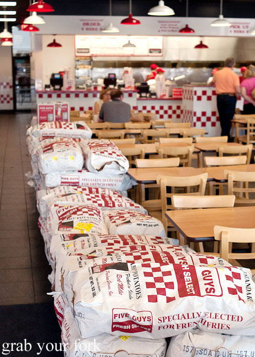 Five Guys burgers hamburger cheeseburger fast food Kansas City Ward Parkway
