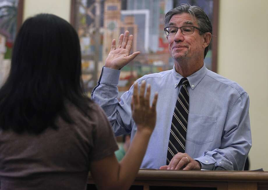 C.W. Nevius swears that he's leaving.  Photo: Paul Chinn, The Chronicle