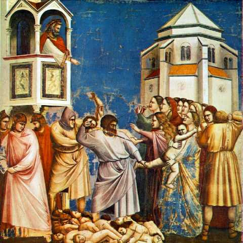 The massacre of the innocents by Giotto di Bondone