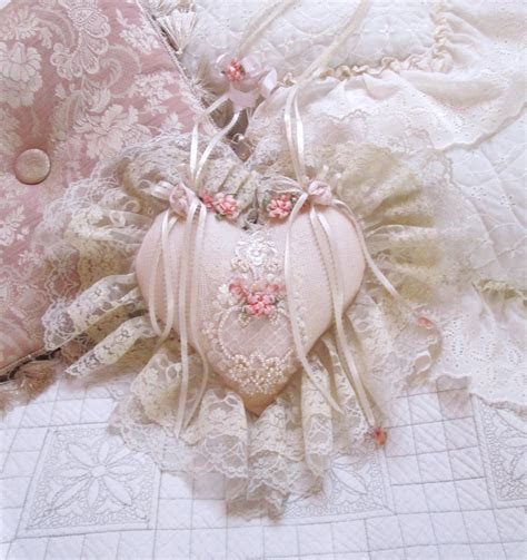 Lace heart victorian shabby chic heart wedding shower