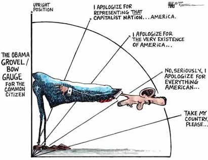 Image result for obama bowing cartoons