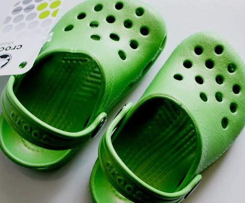 lilah's new crocs