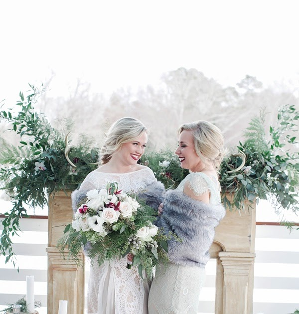 Rustic Winter Lodge Elegance Wedding Inspiration