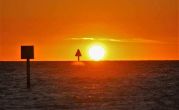 Sunset over Naples, Florida. Image credit: Dave Dickinson