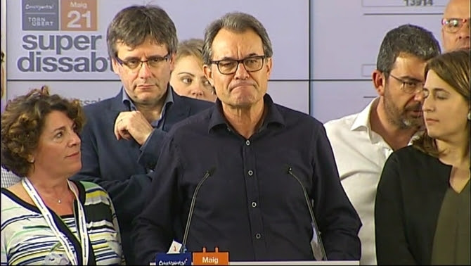 """Artur Mas valora els resultats del """"superdissabte"""" de Convergència"""