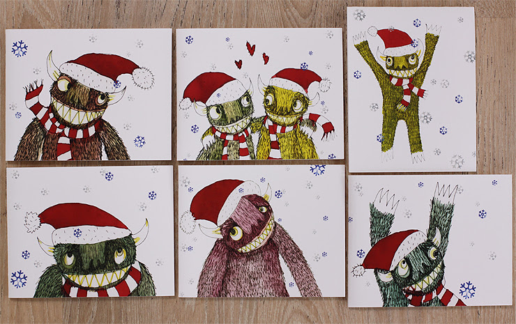 Monster Christmas Cards #1