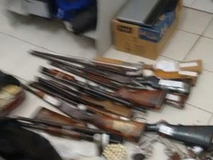 Armas foram recuperadas. (Foto: Divulgação/ Polícia Civil)