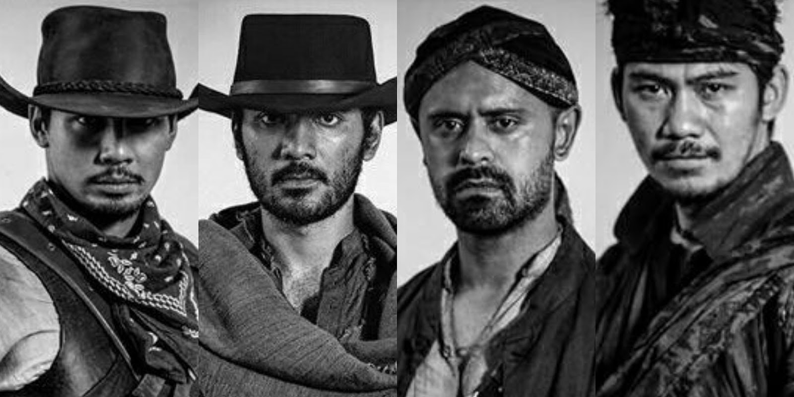 BUFFALO BOYS: Get A Black-And-White Look At The Cast Of Mike Wiluan's Western Action Thriller Debut