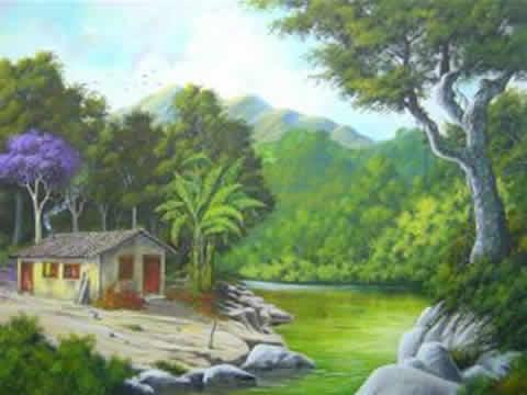 Dibujos De Paisajes Naturales A Lapiz De Color Imagui