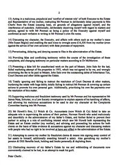 Heads of Complaint against Norman Howitt Page 2