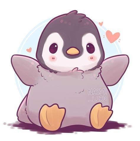 fluffy penguin   hug    cute