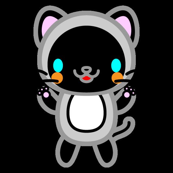 かわいいシャム猫の無料イラスト商用フリー オイデ43