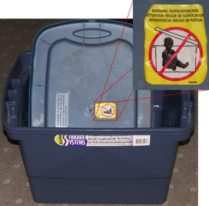 storage container warning