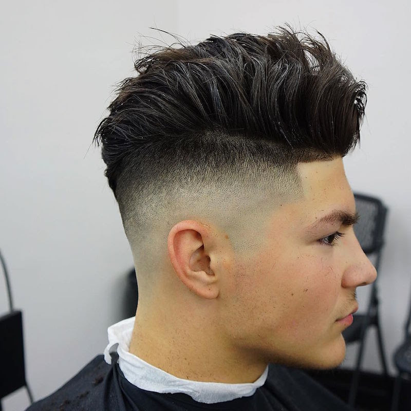 criztofferson_high skin fade and longer hair