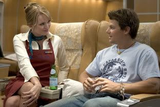 Sunny Mabrey (the chick from SPECIES II) and Nathan Phillips in SNAKES ON A PLANE.