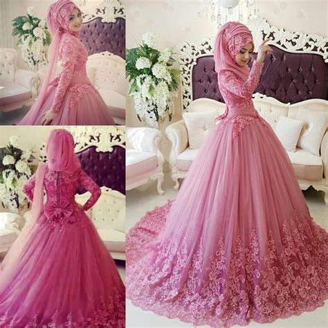 Discount Arabic Muslim Wedding Dress 2016 Turkish Gelinlik