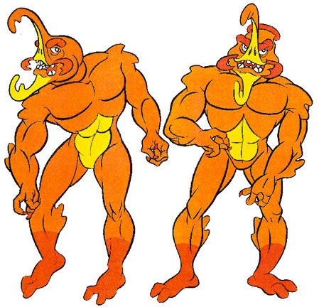(TMNT Spinoff) ..Mutanimals The Animated Series! - Skul and Bean..[[Courtesy of Ryan Brown]] ((1992))