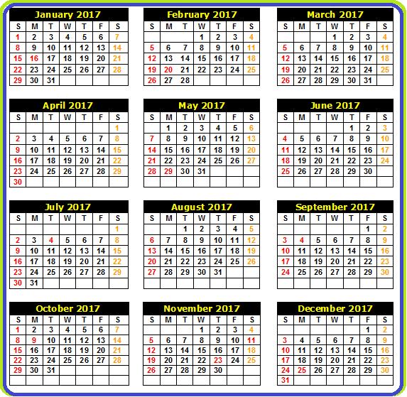 calendar 2017 in tamil - Calendar