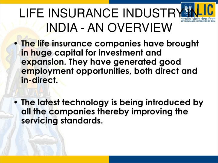 PPT - LIFE INSURANCE INDUSTRY IN INDIA - AN OVERVIEW ...
