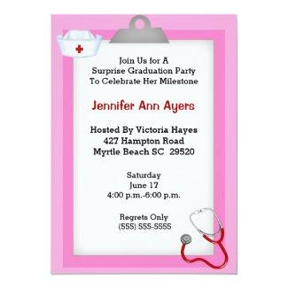 Surprise Nurse Graduation Party Invitation