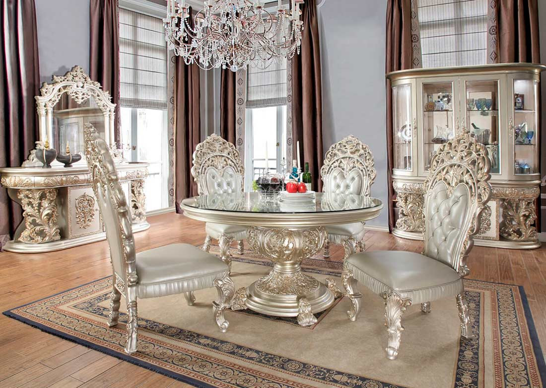 Round Classic Dining Table HD 088 | Classic Dining