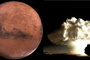 Life on Mars wiped out nuclear war Dr John Brandenburg