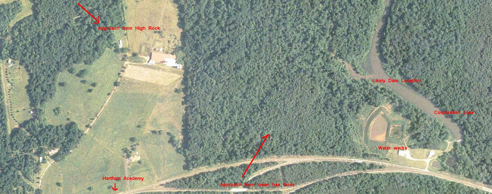 Aerial photo of hike site