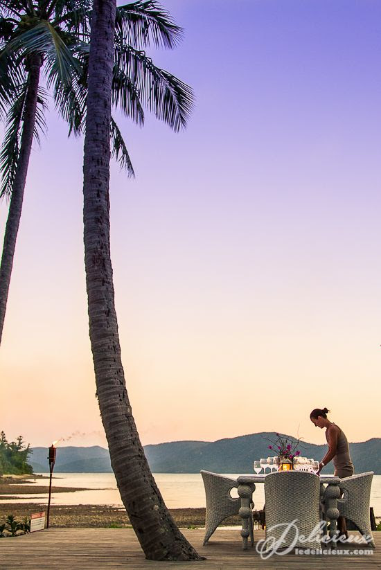 Dinner under the stars Paradise Bay Resort Whitsundays | via ledelicieux.com