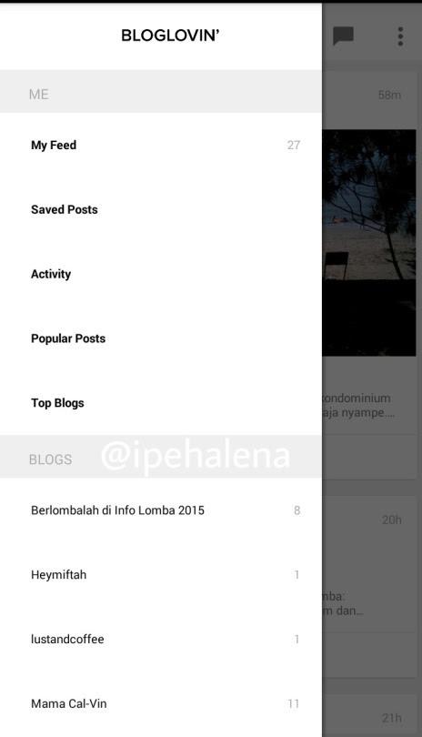 Bloglovin application - ipehalena.blogspot.com