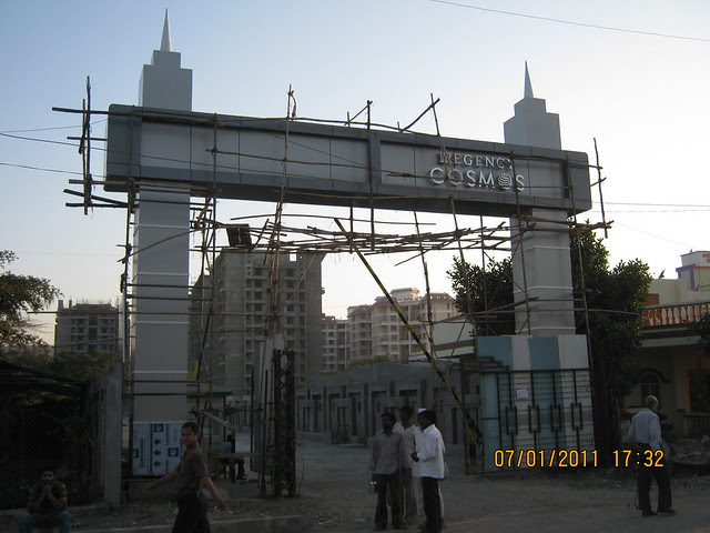 Main Entrance Gate of Regency Cosmos, Almost ready possession 3 BHK Flats on Baner Road Pune 411 045