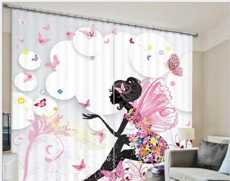 kopen goedkoop vlinder meisje slaapkamer gordijn print luxe verduisterende 3d gordijnen voor woonkamer cortinas rideaux aangepaste grootte prijs natural