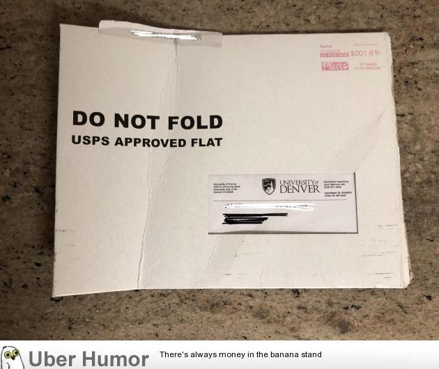 Usps Bent My Diploma I Have No Words Funny Pictures Quotes