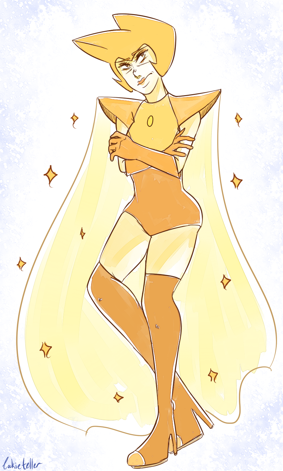 I wanted to draw one of Rebecca's early Yellow Diamond designs. Hehe.
