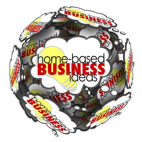 home based business thought cloud sphere brainstorming