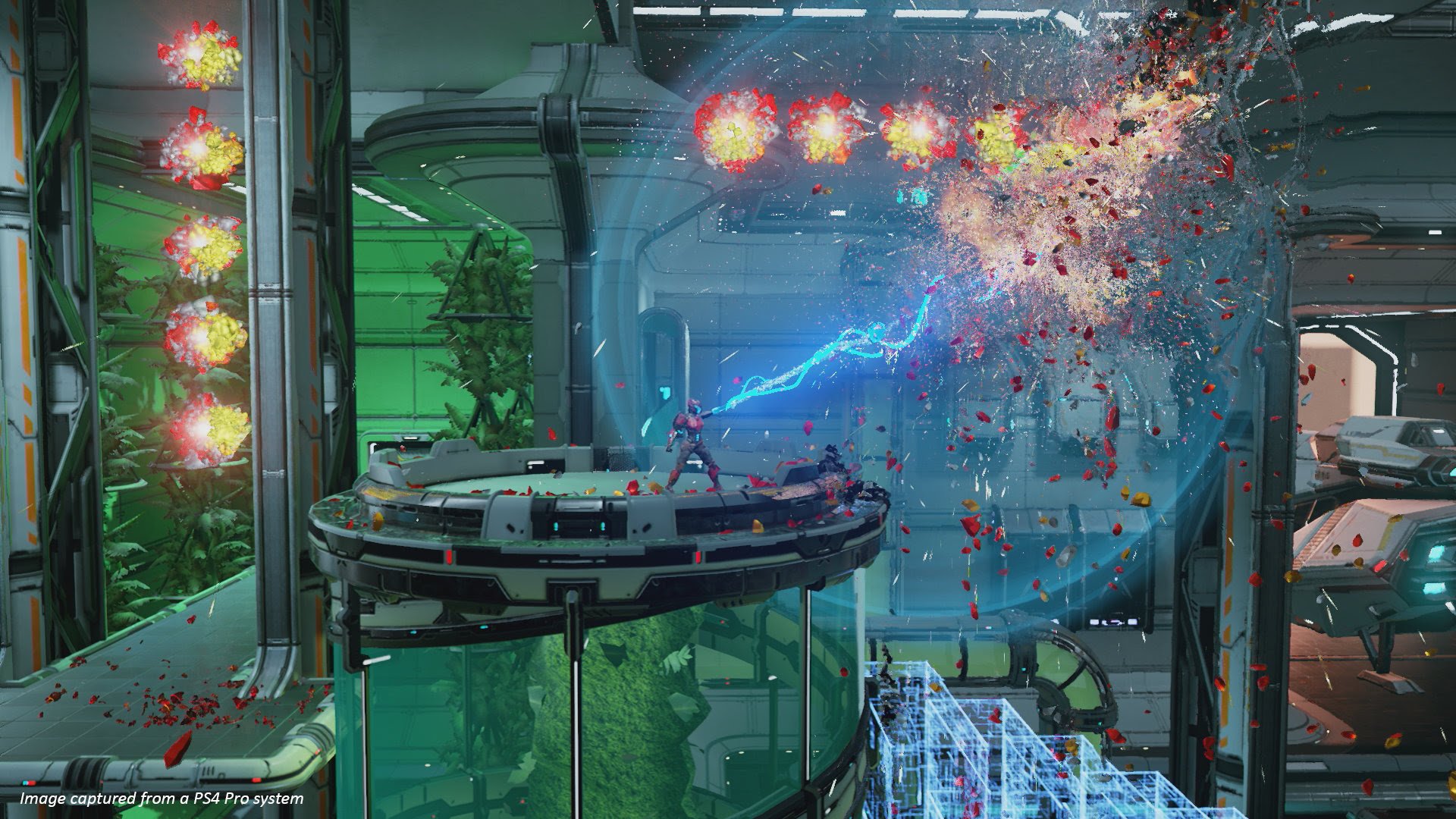 Here's a good look at Housemarque's new side-scroller Matterfall screenshot