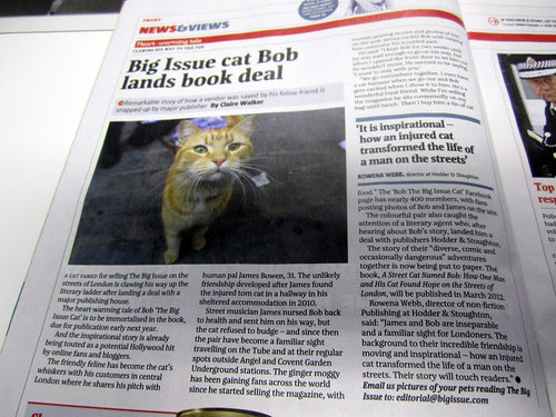 Big Issue featured Bob's Book Deal