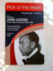 Starbucks iTunes Pick of the Week - John Legend - Green Light featuring Andre 3000