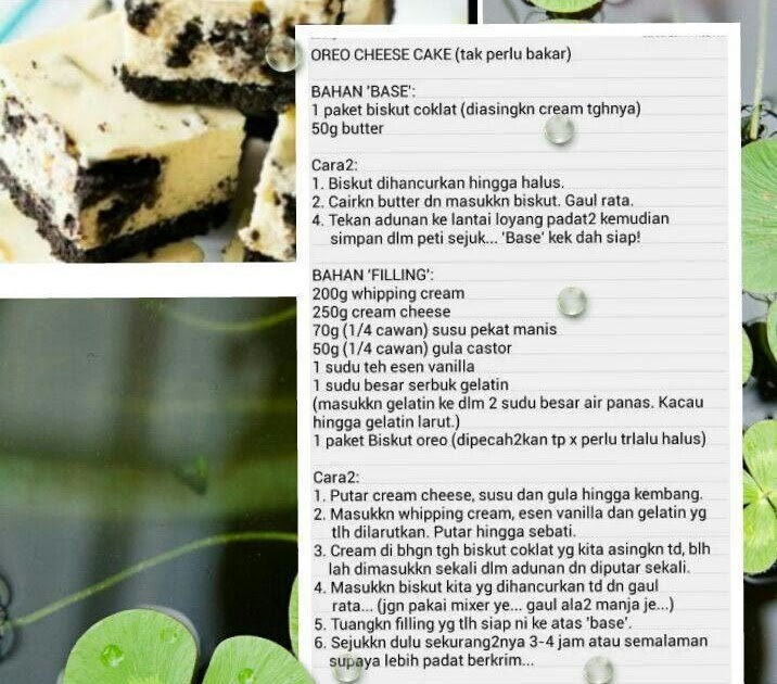 Resepi Cheese Kek Oreo Bakar Copd Blog J