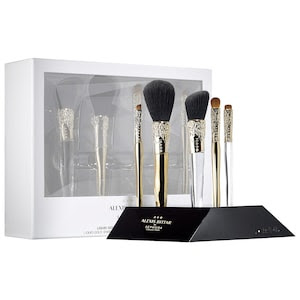 SEPHORA COLLECTION - ALEXIS BITTAR LIQUID GOLD: BEAUTY BRUSH SET + STAND