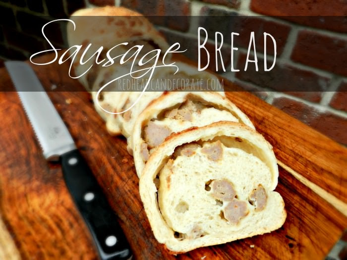 Delicious Sausage Bread from Contributor Julie | A savory bread that's filled to the brim with sausage and yumminess!