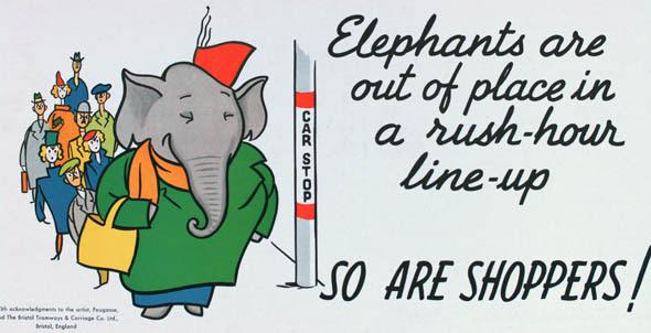 ttc subway cards advertisements elephant