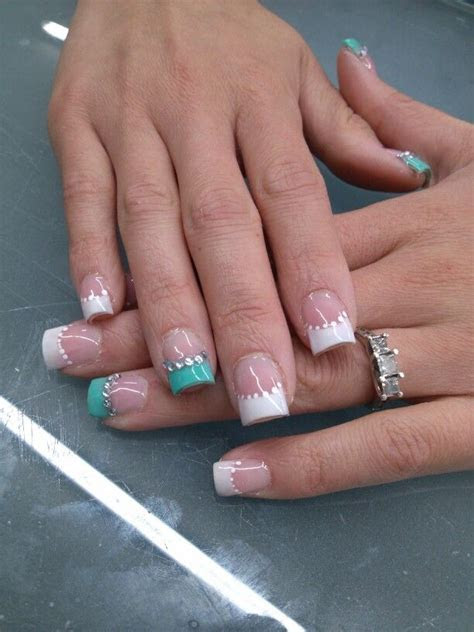 25  best ideas about Tiffany blue nails on Pinterest