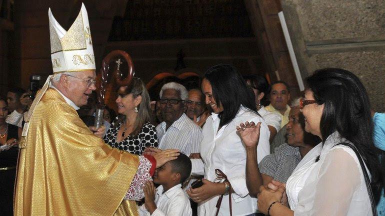 Monseñor Wesolowski en Dominicana, donde también fue procesado. Francisco lo echó de la Iglesia