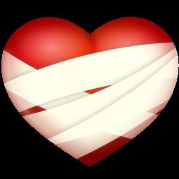 Image result for bandaged heart