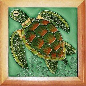 Amazon.com: Hawaii Ceramic Wall Tile Turtle #2 8 x 8 in ...